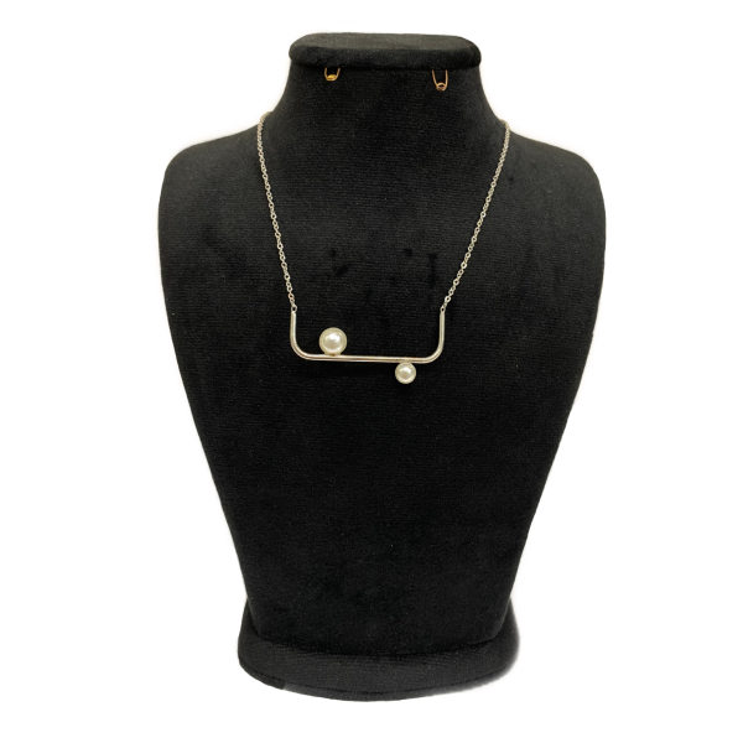 گردنبند زنانه استینلس استیل مدل مروارید
