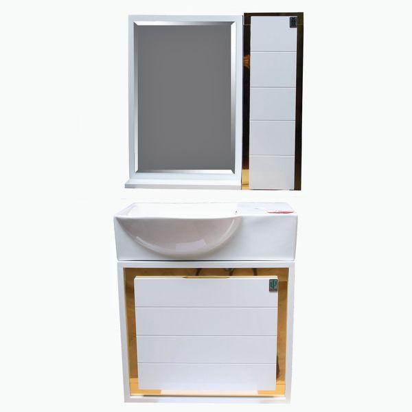 ست کابینت و روشویی مدل کویین 50 به همراه آینه و باکس