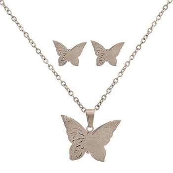 نیم ست زنانه طرح پروانه کد 1195