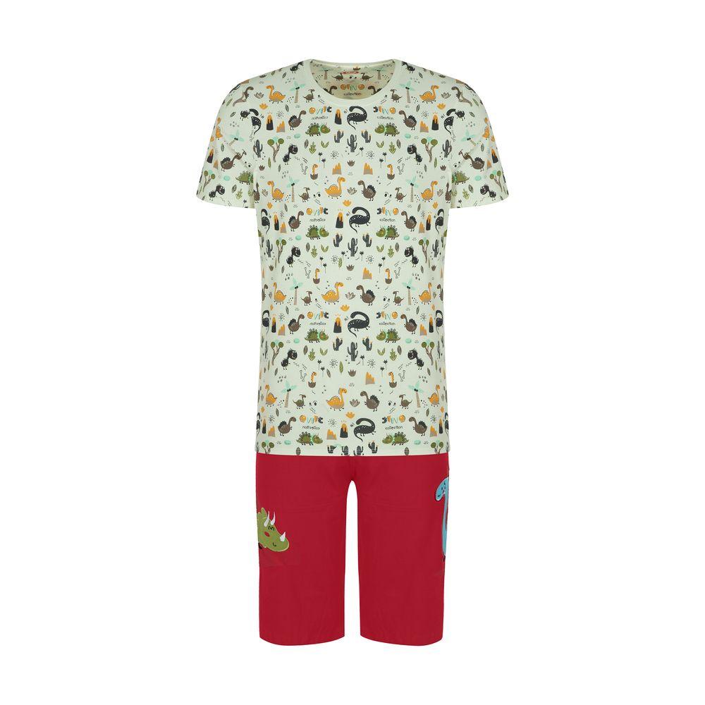ست تی شرت و شلوارک راحتی مردانه مادر مدل 2041110-74