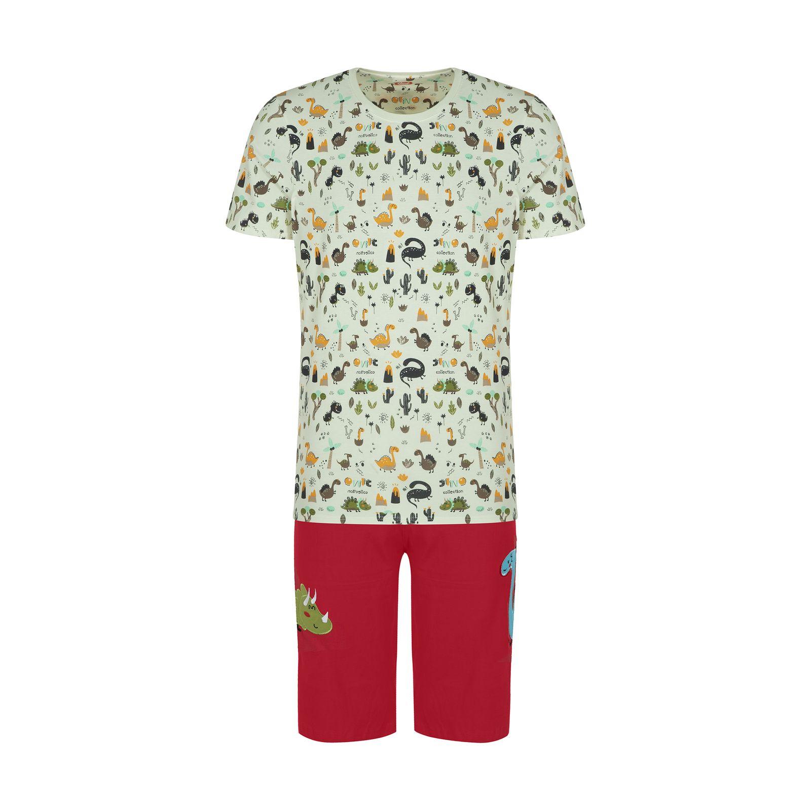 ست تی شرت و شلوارک راحتی مردانه مادر مدل 2041110-74 -  - 2