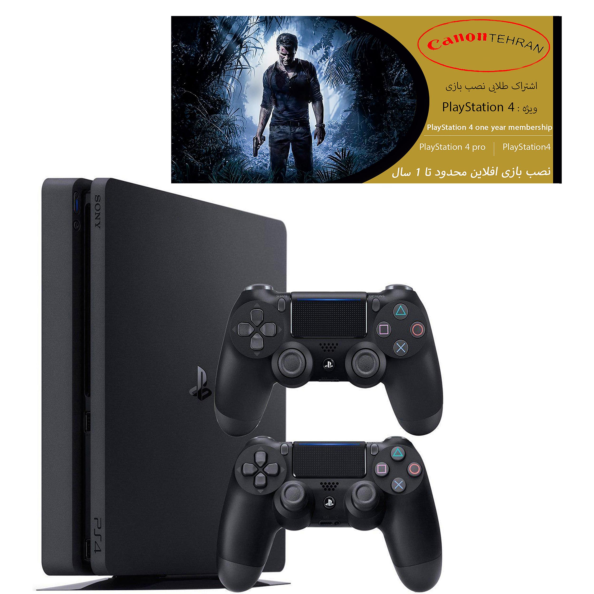 کنسول بازی سونی مدل Playstation 4 Slim ریجن 2 کد CUH-2216B ظرفیت 1 ترابایت به همراه 20 بازیو دسته اضافه