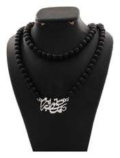 گردنبند نقره دلی جم طرح عشق تو را به سر برم کد D 66 -  - 1
