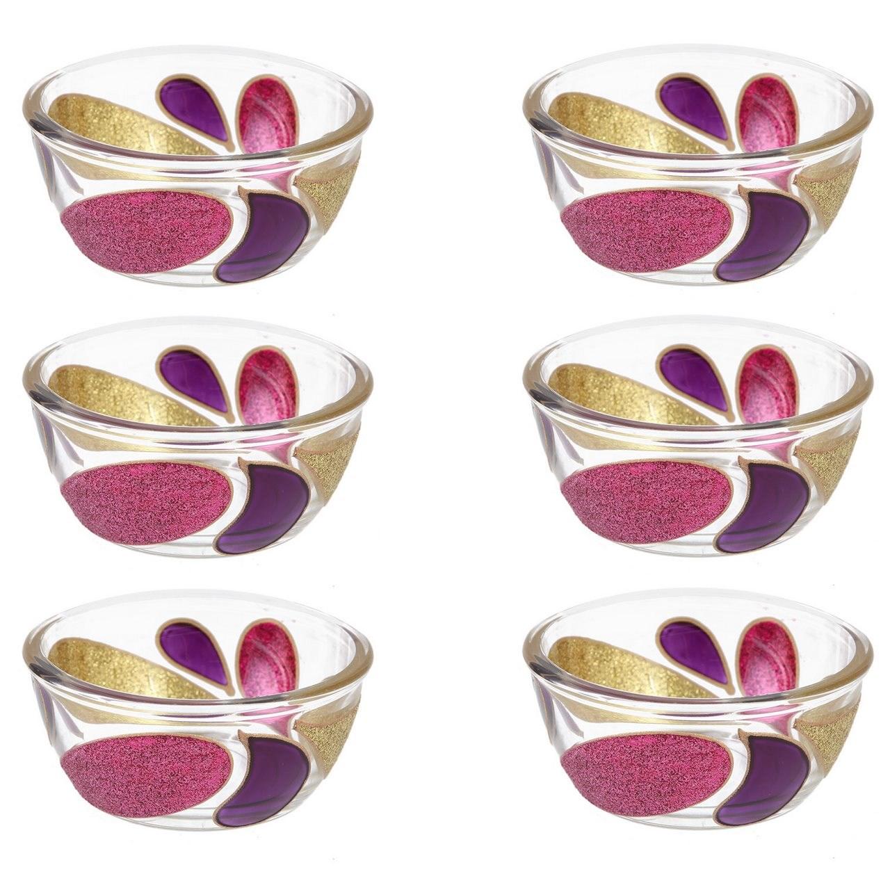 ظروف شیشه ای گالری انار کد  134114مجموعه شش عددی