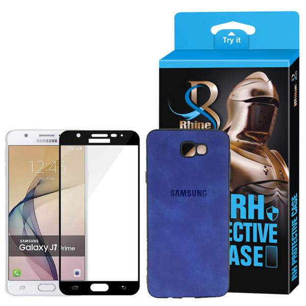 کاور راین مدل R9_Logo0 مناسب برای گوشی موبایل سامسونگ Galaxy J7 Prime به همراه محافظ صفحه نمایش