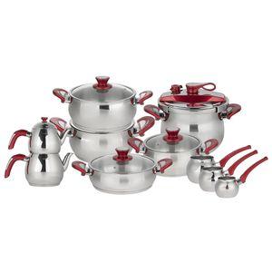 سرویس آشپزخانه 18 پارچه شفر مدل Mega Gurme