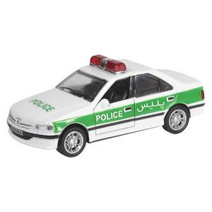 ماشین بازی مدل پژو پارس پلیس کد 0309
