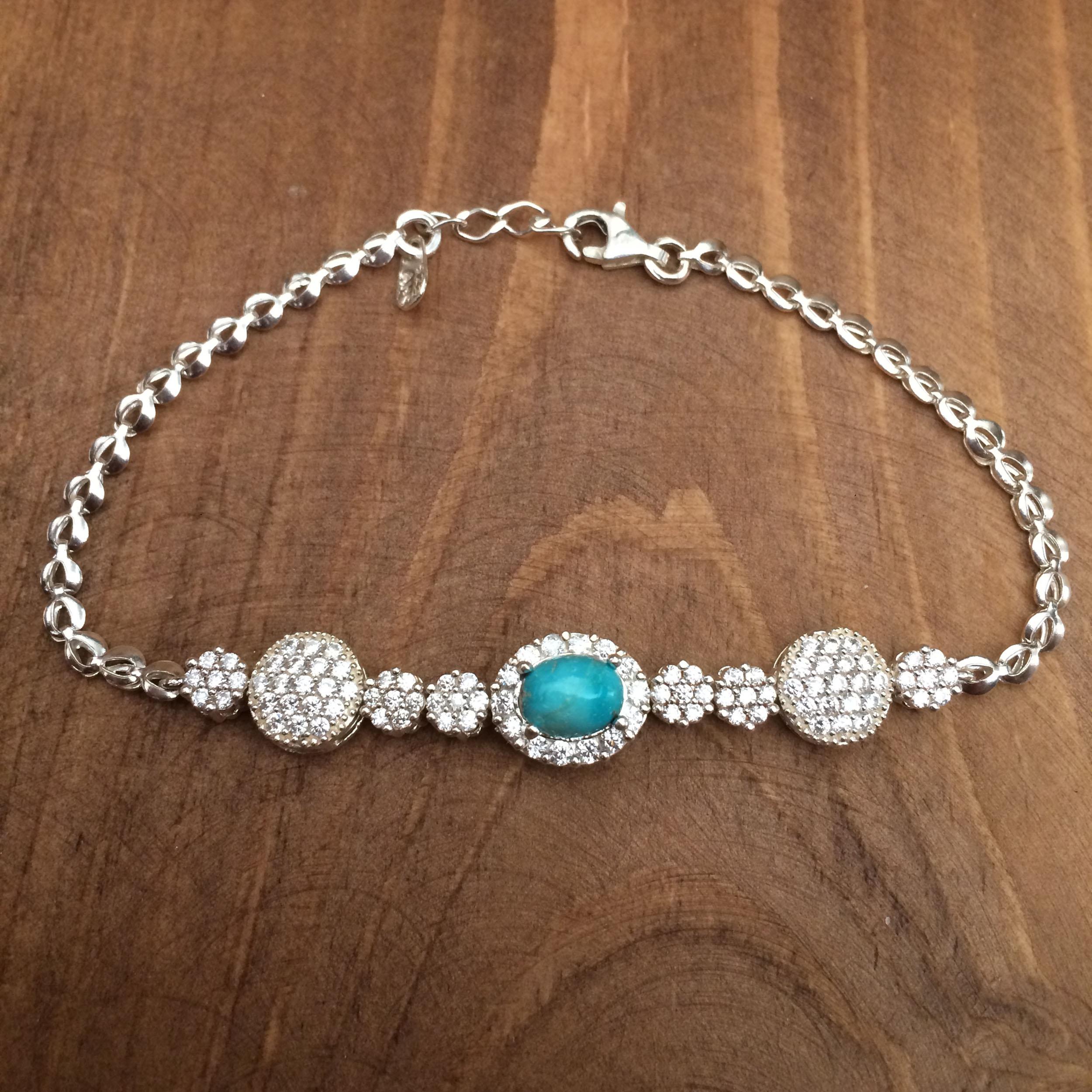 دستبند نقره زنانه  کد 3045