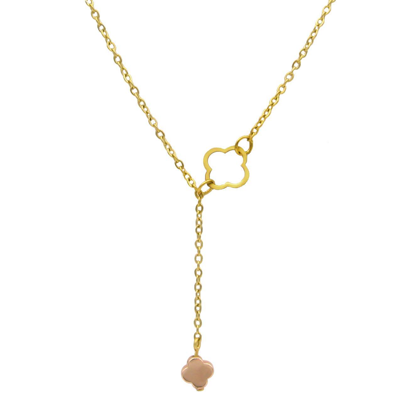 گردنبند طلا 18 عیار زنانه مانچو کد sfg652 -  - 1