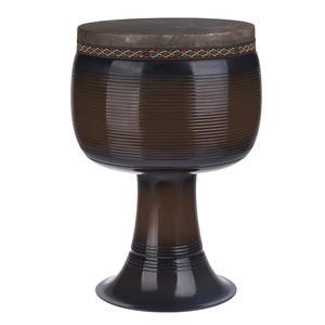 تنبک حلمی مدل فایبر قهوهای سوخته با پوست شتر سایز 28