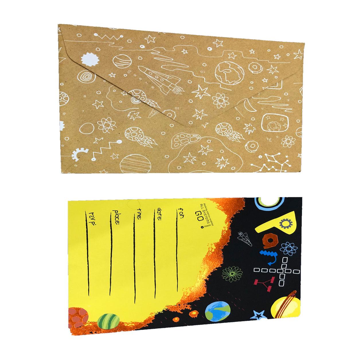 کارت دعوت مدل فضایی