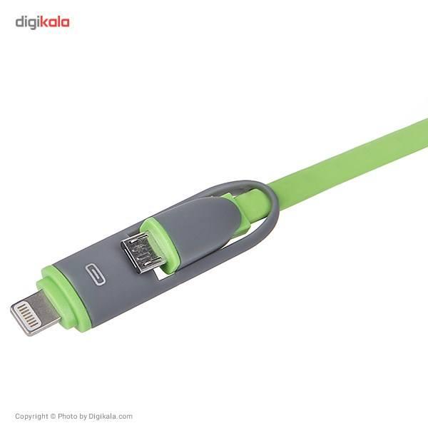 کابل تبدیل USB به لایتنینگ/microUSB تسکو طول 1 متر main 1 3