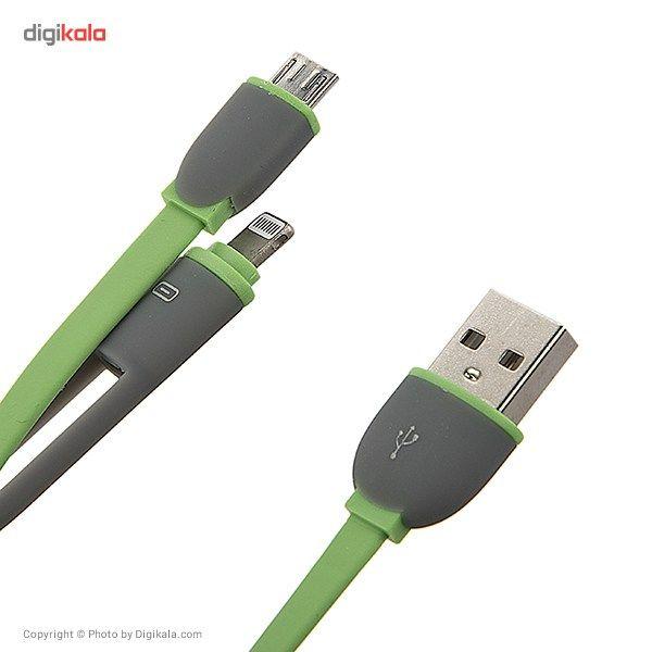 کابل تبدیل USB به لایتنینگ/microUSB تسکو طول 1 متر main 1 7