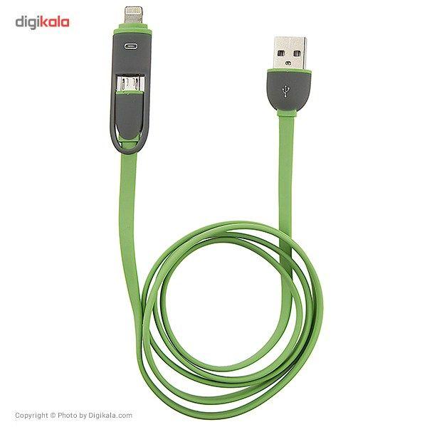 کابل تبدیل USB به لایتنینگ/microUSB تسکو طول 1 متر main 1 8