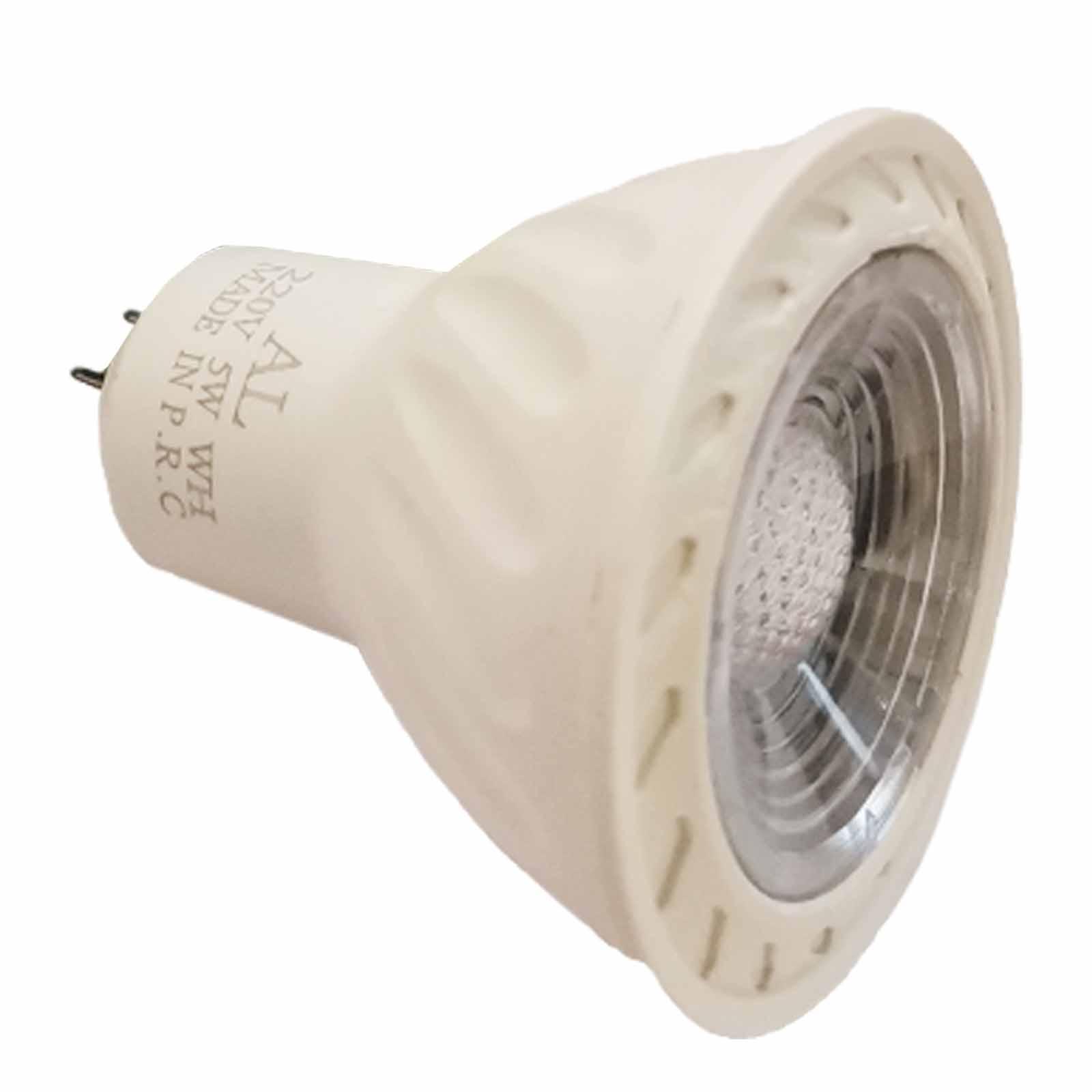 لامپ هالوژن ال ای دی 5 وات آ ال مدل 01 پایه MR16 بسته 10 عددی