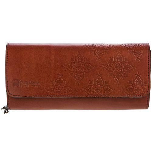 کیف دستی چرم طبیعی گالری چیستا طرح اسلیمی
