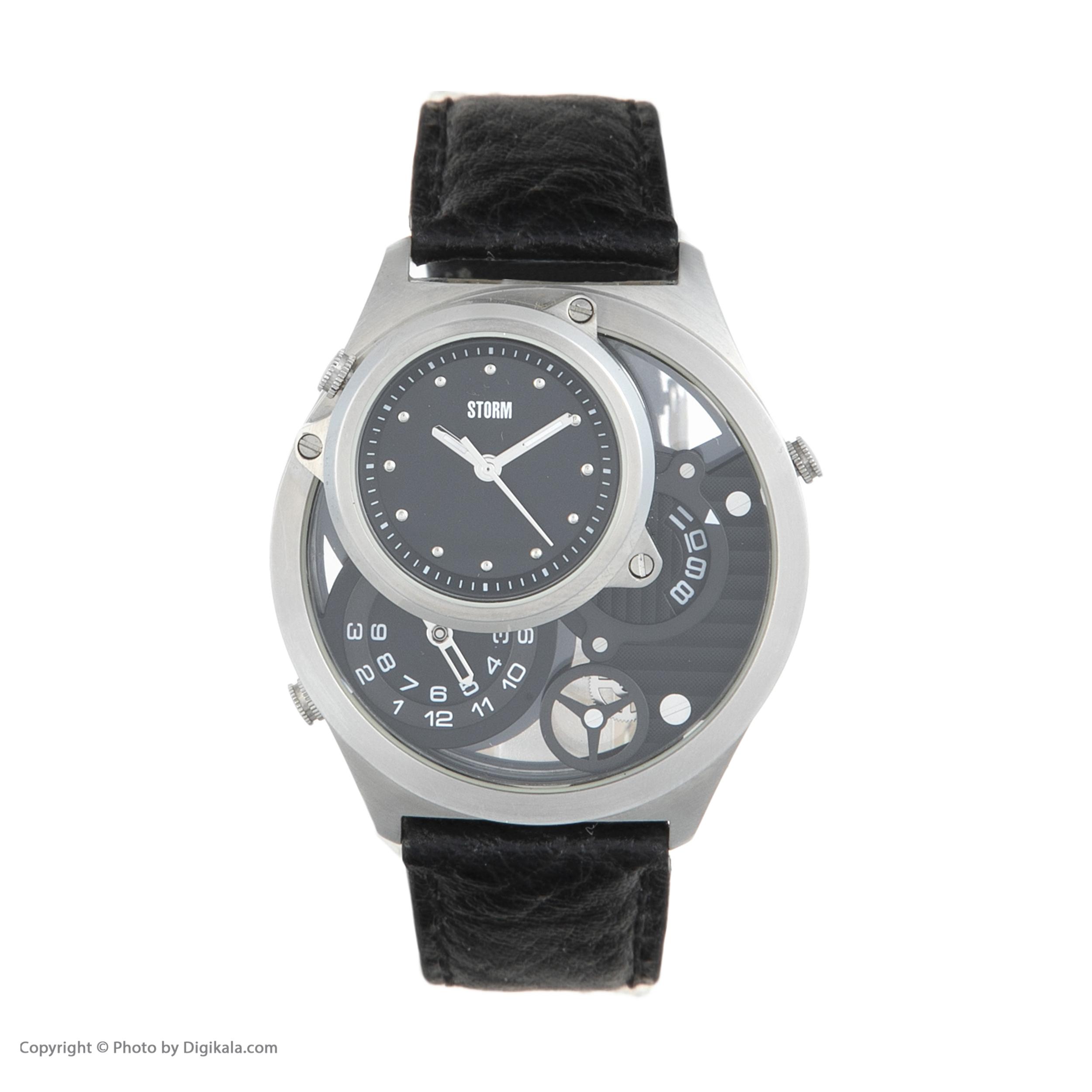 ساعت مچی عقربه ای مردانه استورم مدل ST 47144-BK -  - 3