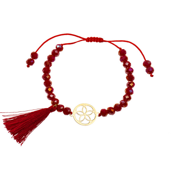 دستبند طلا 18 عیار دخترانه کرابو طرح گل مدل Krd1042