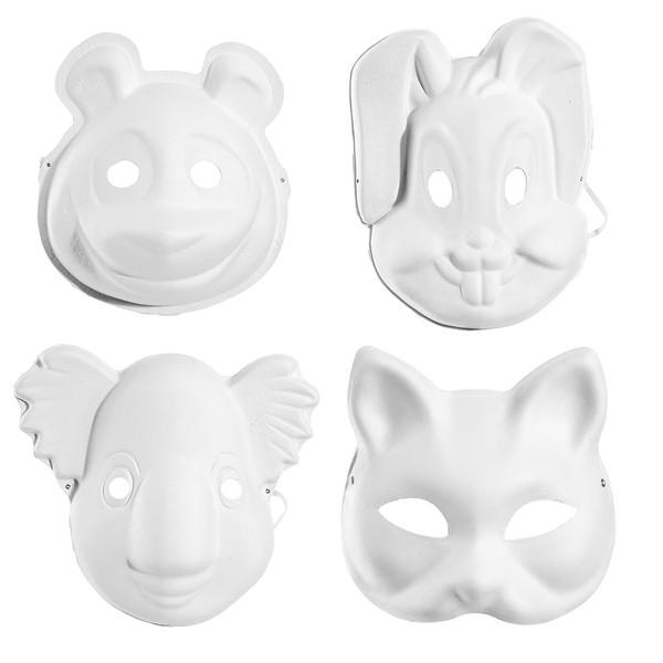 ماسک سه بعدی حیوانات مدل 26357 بسته 4 عددی