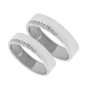 ست انگشتر نقره زنانه و مردانه مدل kh8790