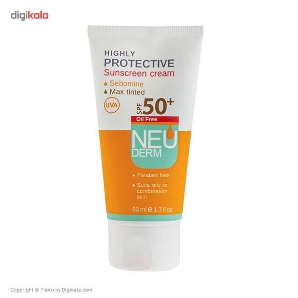 کرم ضد آفتاب فاقد چربی نئودرم مدل Highly Protective Max Tinted SPF50 حجم 50 میلی لیتر main 1 1