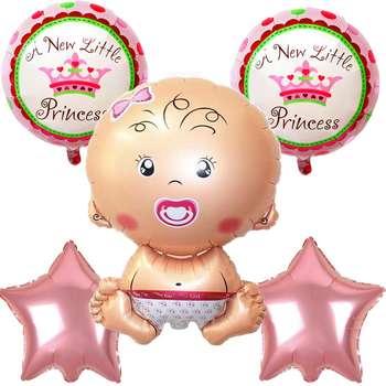 بادکنک فویلی مدل Little Princess مجموعه 5 عددی