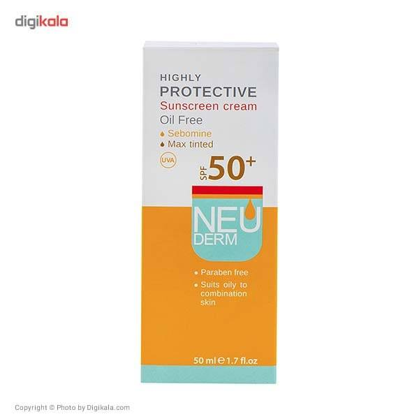 کرم ضد آفتاب فاقد چربی نئودرم مدل Highly Protective Max Tinted SPF50 حجم 50 میلی لیتر main 1 3