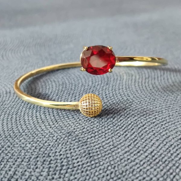 دستبند طلا 18 عیار زنانه قیراط مدل اوال کد GH113