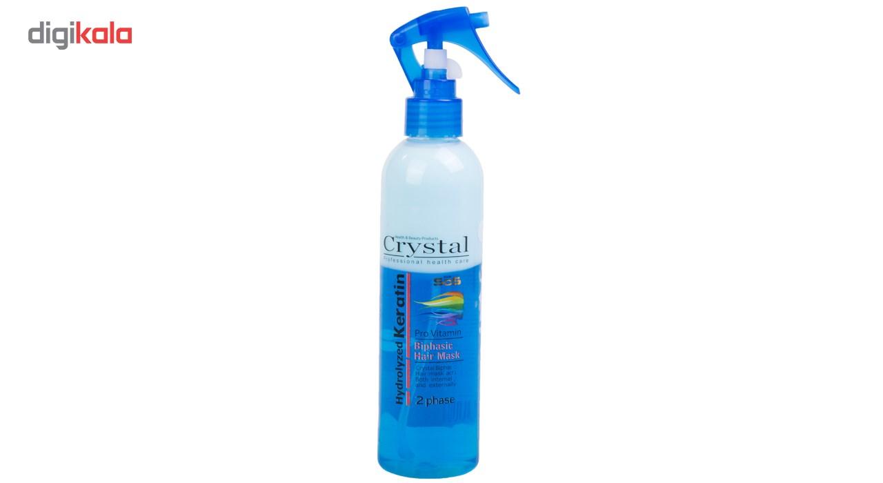 ماسک مو دو فاز آبی روزانه کریستال مدل Hydrolyzed Keratin حجم 250 میلی لیتر
