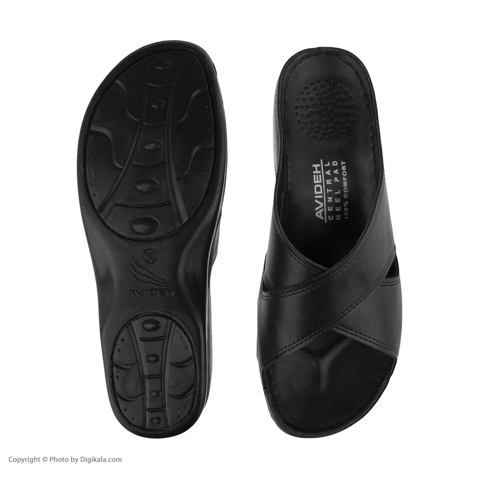 دمپایی زنانه کفش آویده کد av-0304501 رنگ مشکی -  - 3