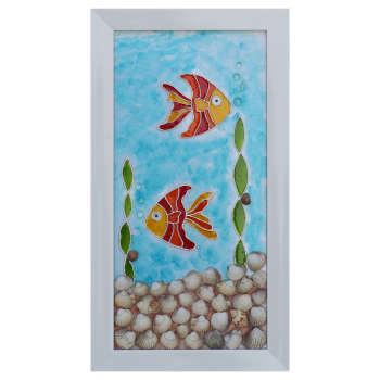 تابلو ویترای طرح ماهی و دریا کد 03