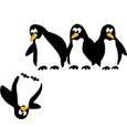 استیکر کلید و پریز مستر راد طرح پنگوئن thumb 15