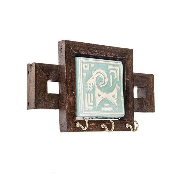 خرید                      جاکلیدی چوبی طرح بز املش کد 66067