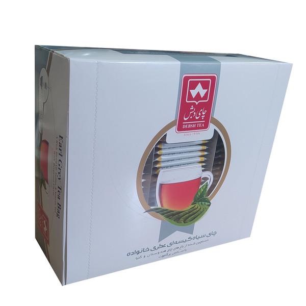 چای سیاه کیسه ای عطری خانواده چای دبش بسته 100 عددی