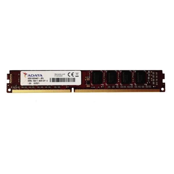 رم کامپیوتر DDR3L تک کاناله 1600 مگاهرتز CL11 ای دیتا مدل PC3-12800 ظرفیت 4 گیگابایت
