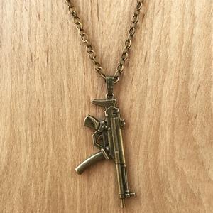 گردنبند مردانه مدل اسلحه MP5