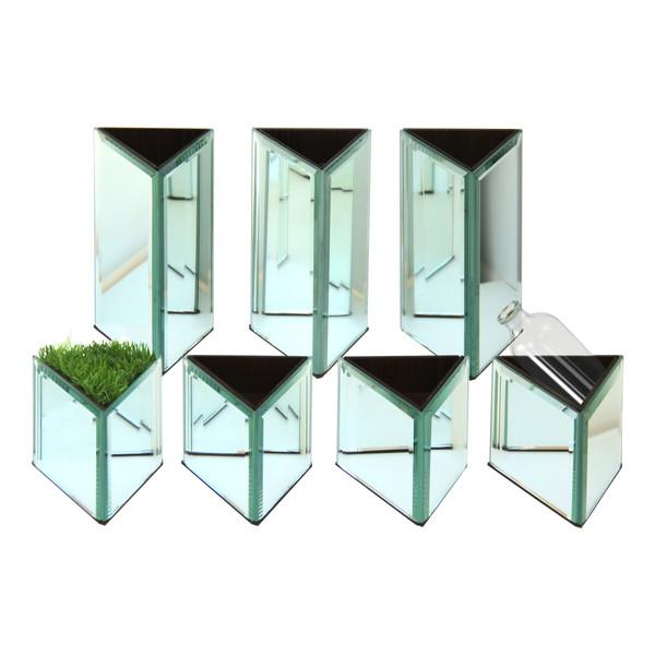 مجموعه ظروف هفت سین 8 پارچه تاقوک مدل انعکاس