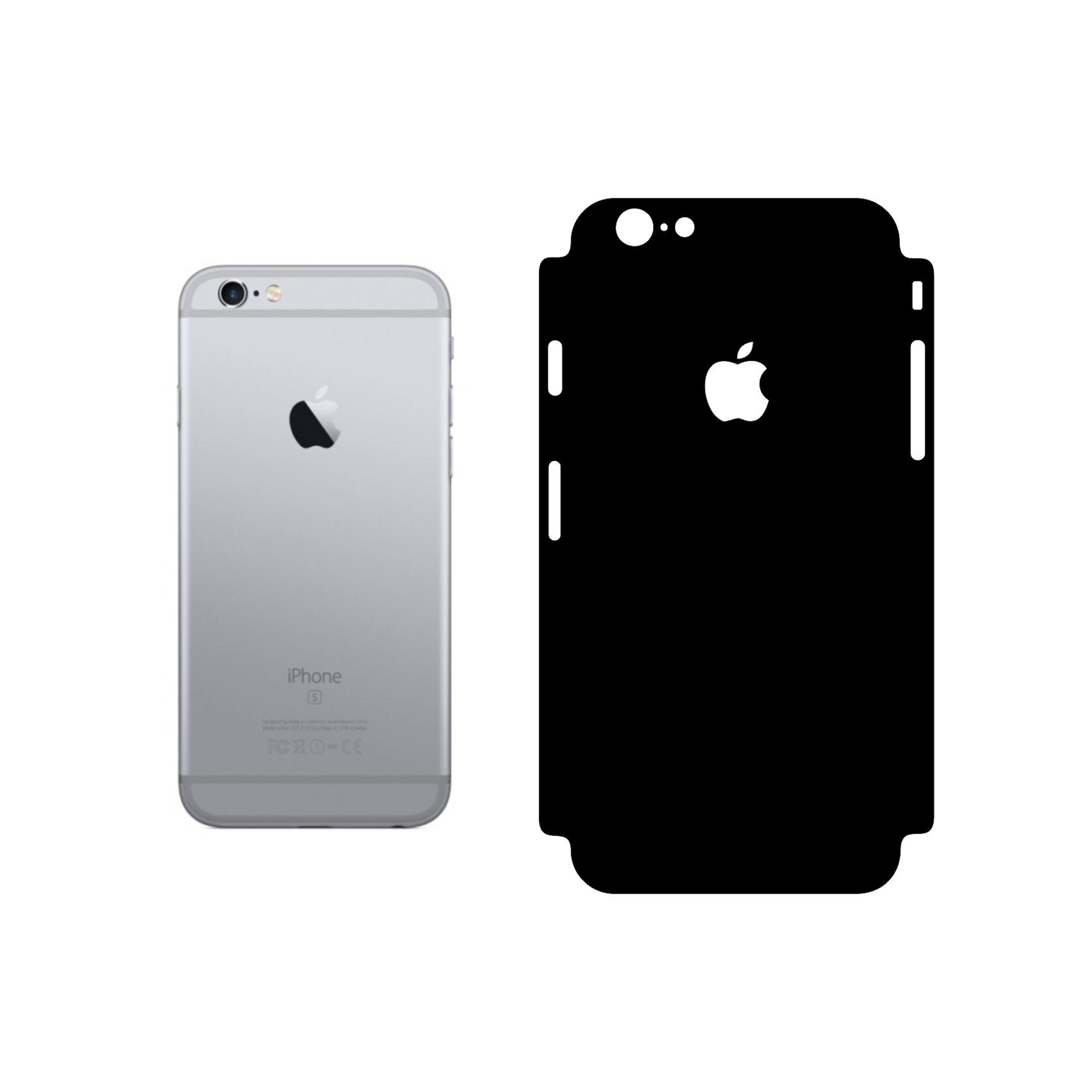 برچسب پوششی مدل Glossy black104 مناسب برای گوشی موبایل اپل Iphone 6/6s main 1 2