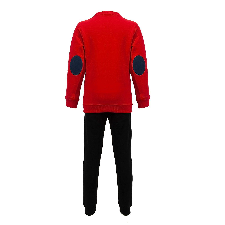 ست سویشرت و شلوار پسرانه طرح خرس عینکی کد 408 رنگ قرمز -  - 4