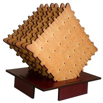 زیرلیوانی ژیوار طرح Biscuit بسته 6 عددی