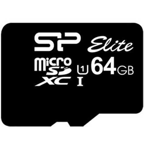 کارت حافظه microSDXC سیلیکون پاور مدل Elite کلاس 10 استاندارد UHS-I U1 سرعت 85MBps ظرفیت 64 گیگابایت