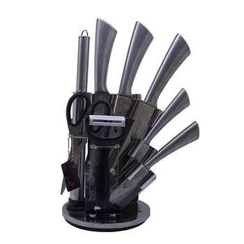 سرویس چاقو آشپزخانه 9 پارچه فلورانس کد 08