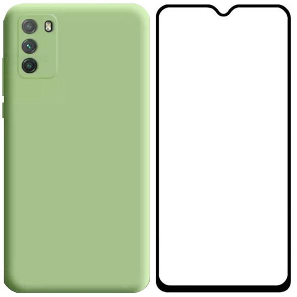 کاور مدل PHSILKG مناسب برای گوشی موبایل شیائومی Poco M3 به همراه محافظ صفحه نمایش