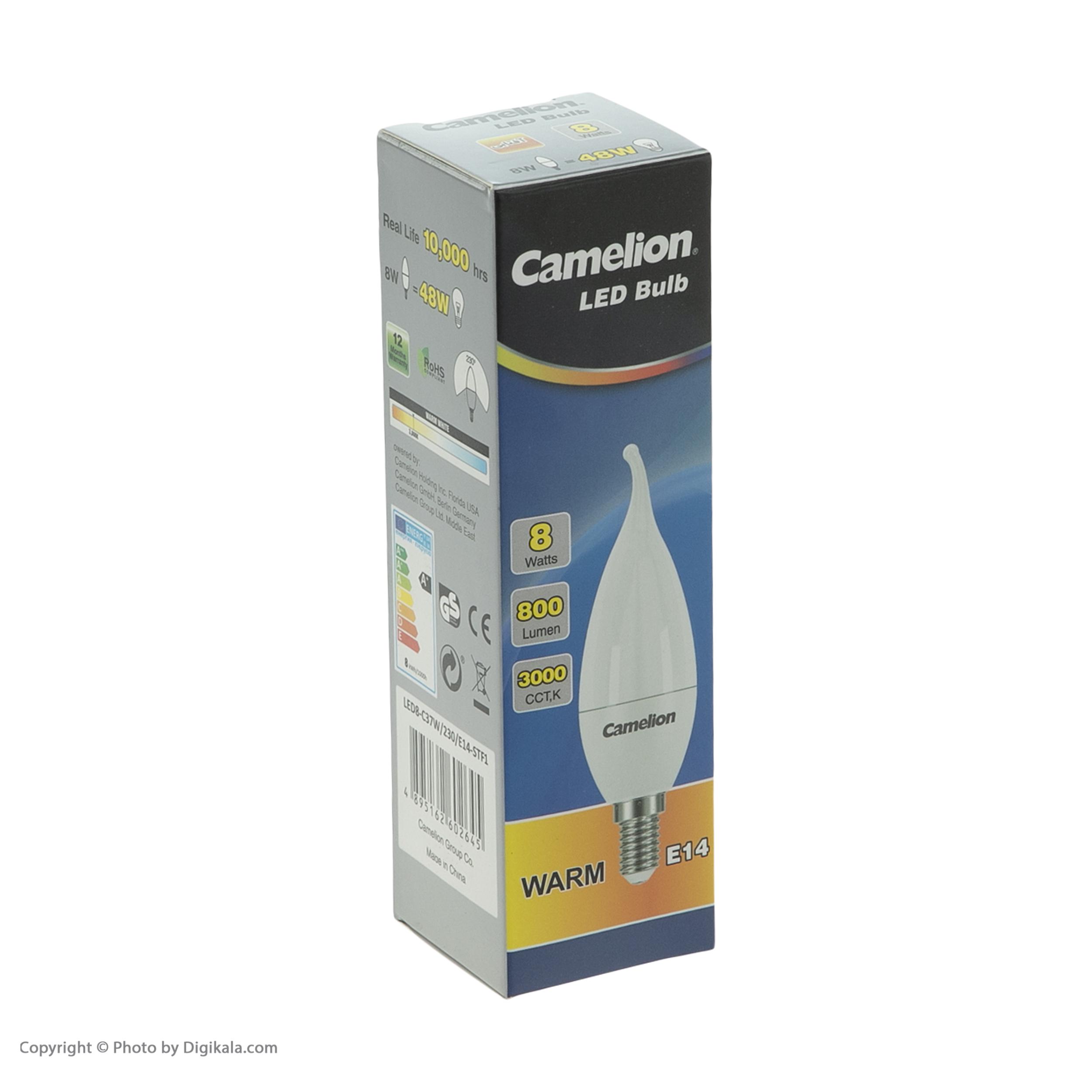 لامپ ال ای دی 8 وات کملیون مدل L101 پایه E14 بسته 5 عددی main 1 2