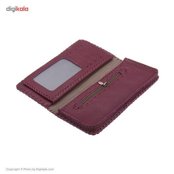کیف پول چرم طبیعی گالری راد مدل کتی -  - 3