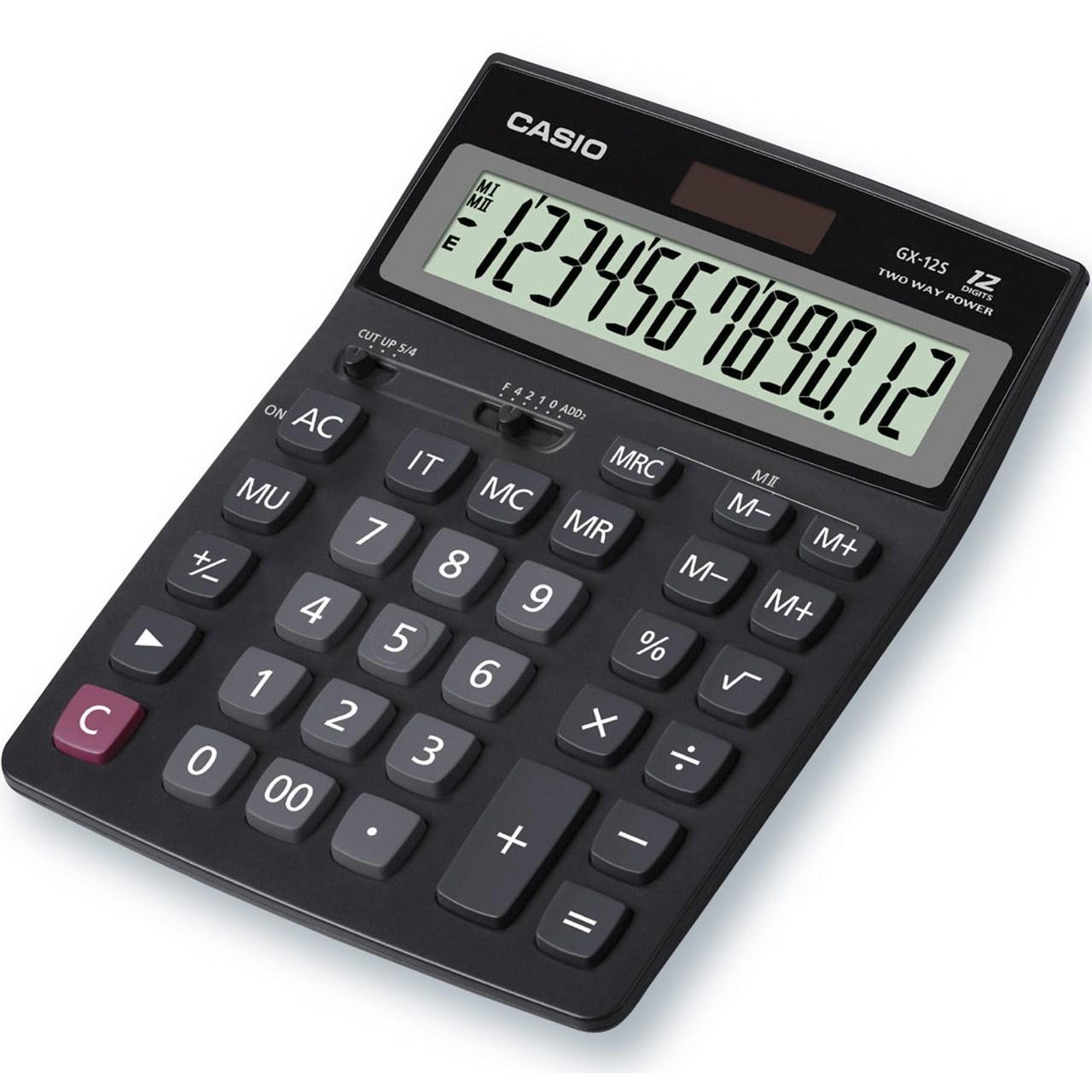 قیمت                      ماشین حساب کاسیو مدل  GX-12S