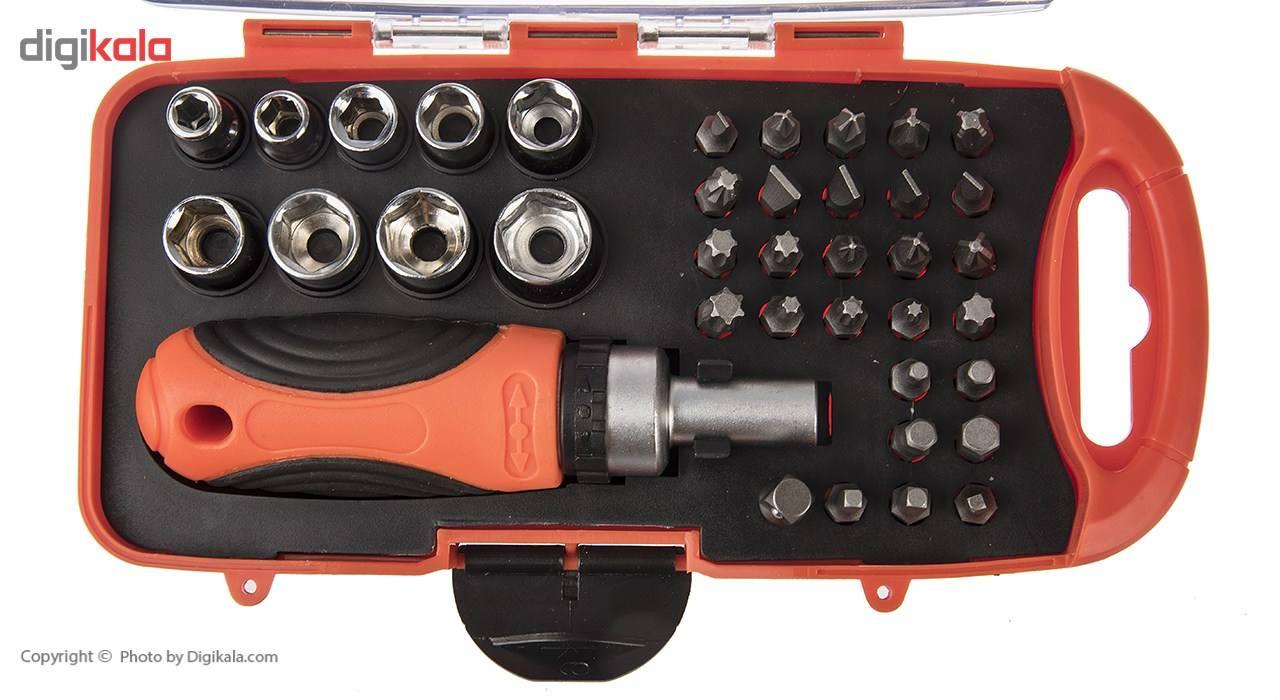 مجموعه 38 عددی سری بکس و پیچ گوشتی گیرپاور مدل HZF-8217 main 1 3