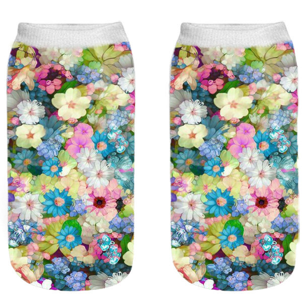 جوراب زنانه طرح گل گلی کد O5