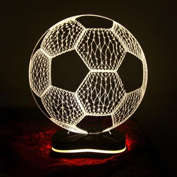 چراغ خواب سه بعدی گالری دکوماس طرح توپ فوتبال کد DMS107