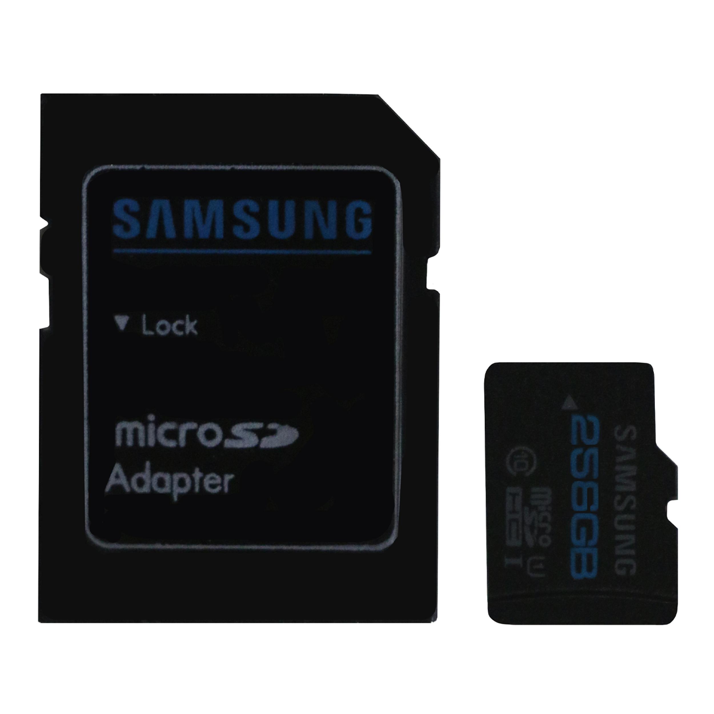 کارت حافظه microSDHC مدل Sam-Pro1 کلاس 10 استاندارد UHS-I U1 سرعت 85MBps ظرفیت 256 گیگابایت به همراه آداپتور SD